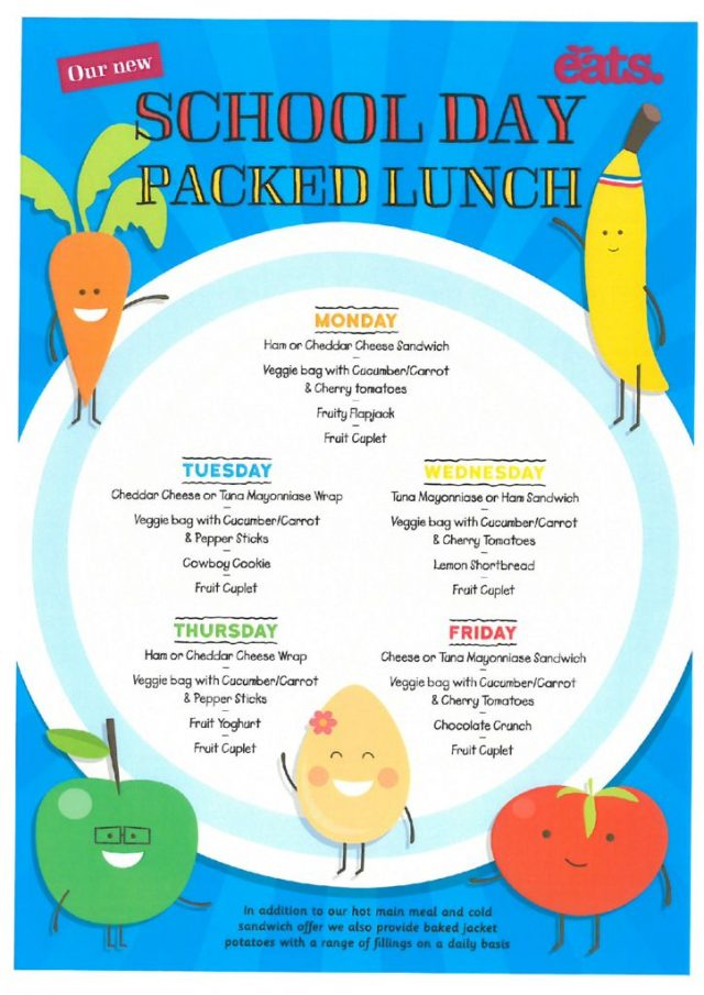 thumbnail of Spring.Summer Packed Lunch Menu