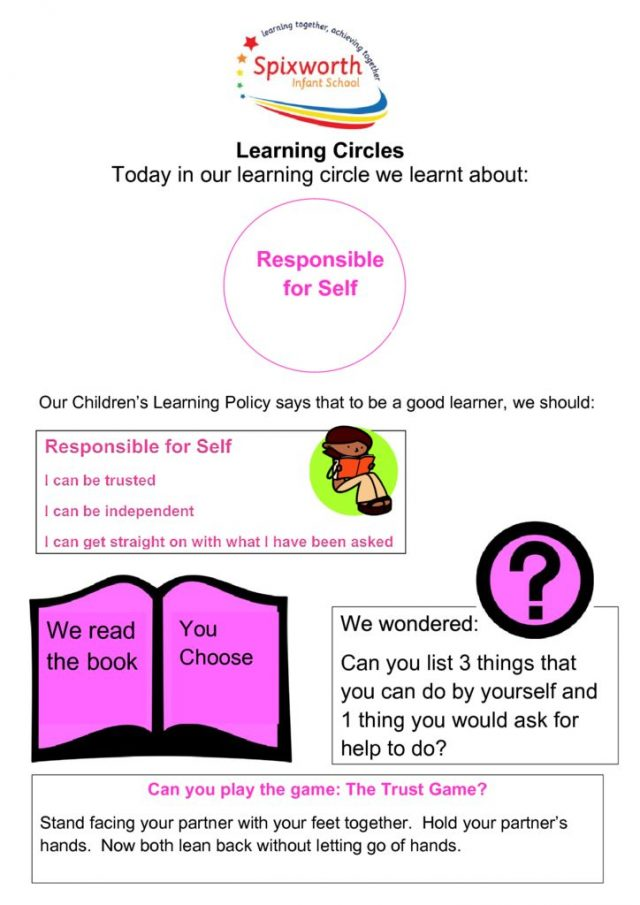 thumbnail of Learning Circle – Responsible for self
