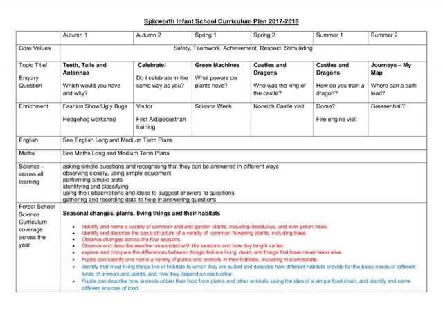 thumbnail of Spixworth Infant School Curriculum Plan 2018 (1)