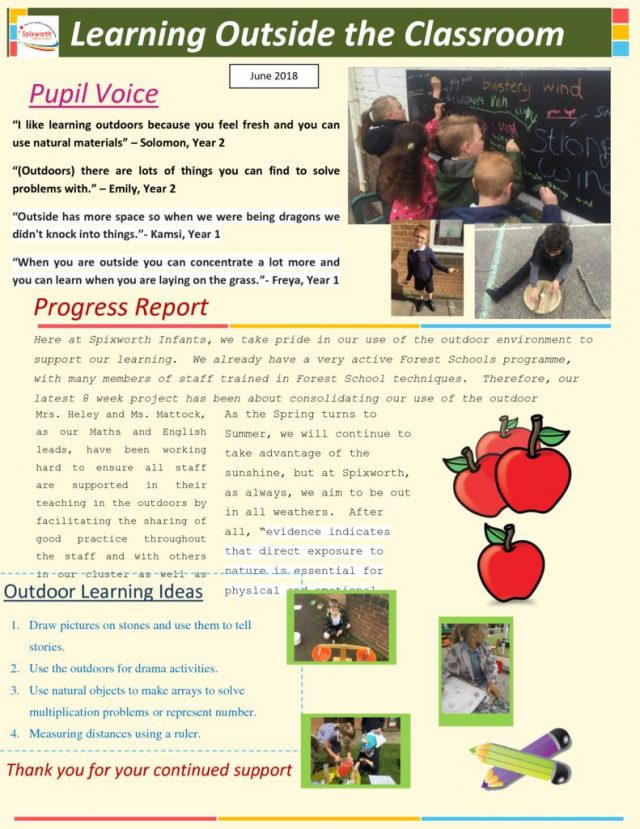 thumbnail of Learning Outdoors 8 week project newsletter JUNE2018