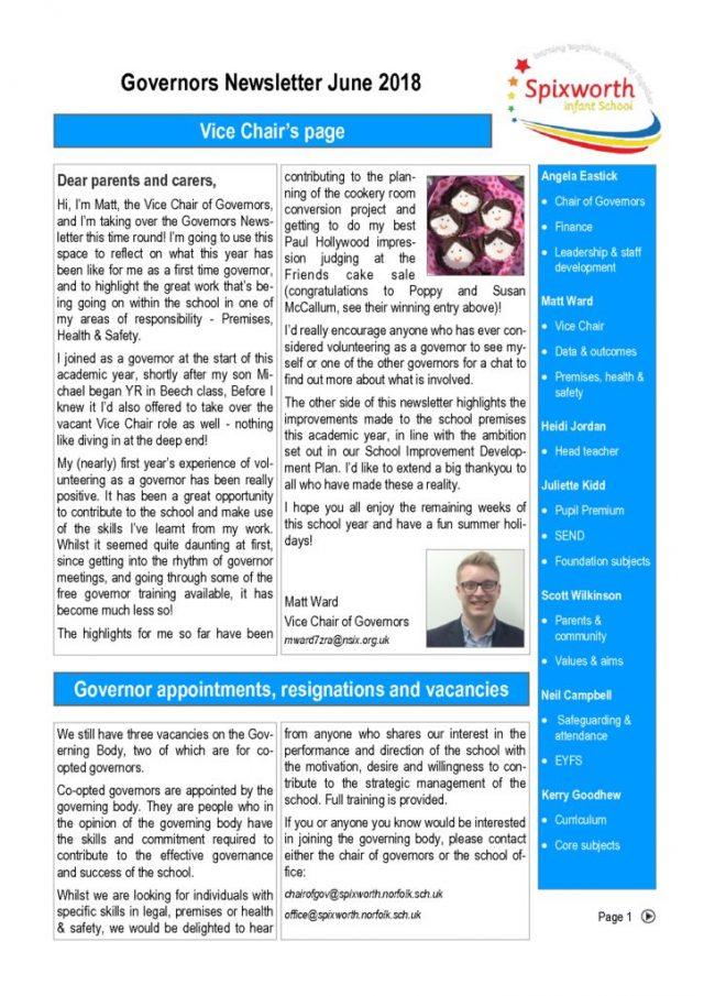 thumbnail of governor newsletter june