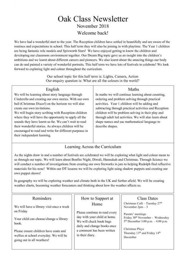 thumbnail of Oak Newsletter Autumn 2 2018