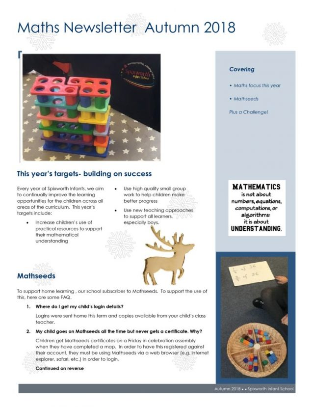thumbnail of Maths newsletter Autumn 2018