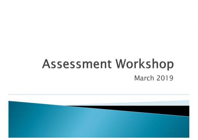 thumbnail of Assessment workshop Mar 19
