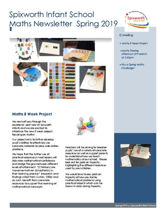 thumbnail of Maths newsletter Spring 2019 (1)