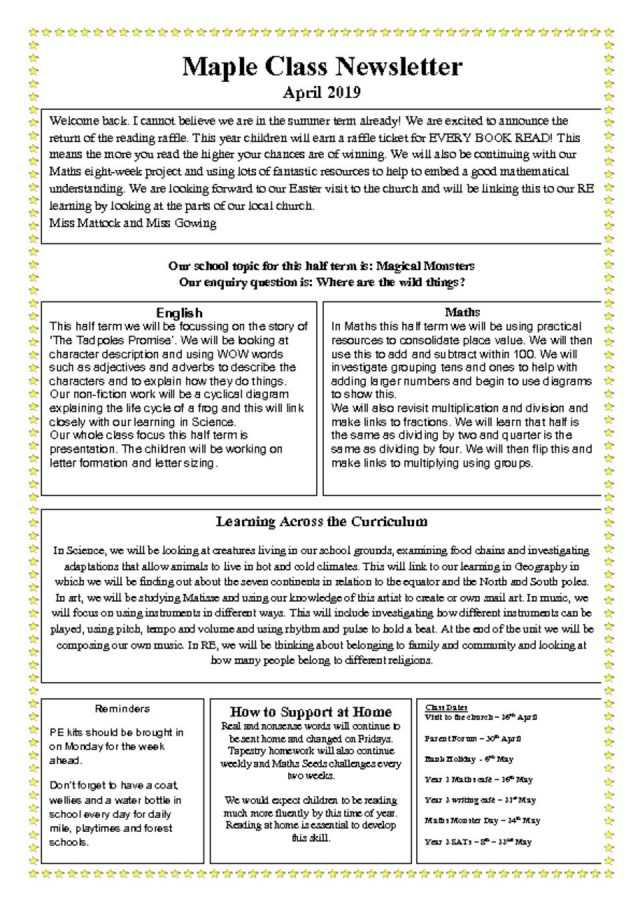 thumbnail of Maple Newsletter Summer One