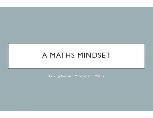thumbnail of Maths Mindset Presentation