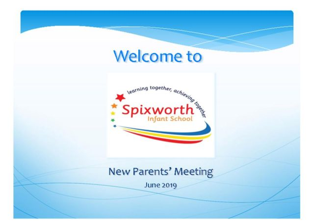 thumbnail of Reception parents meeting June 2019