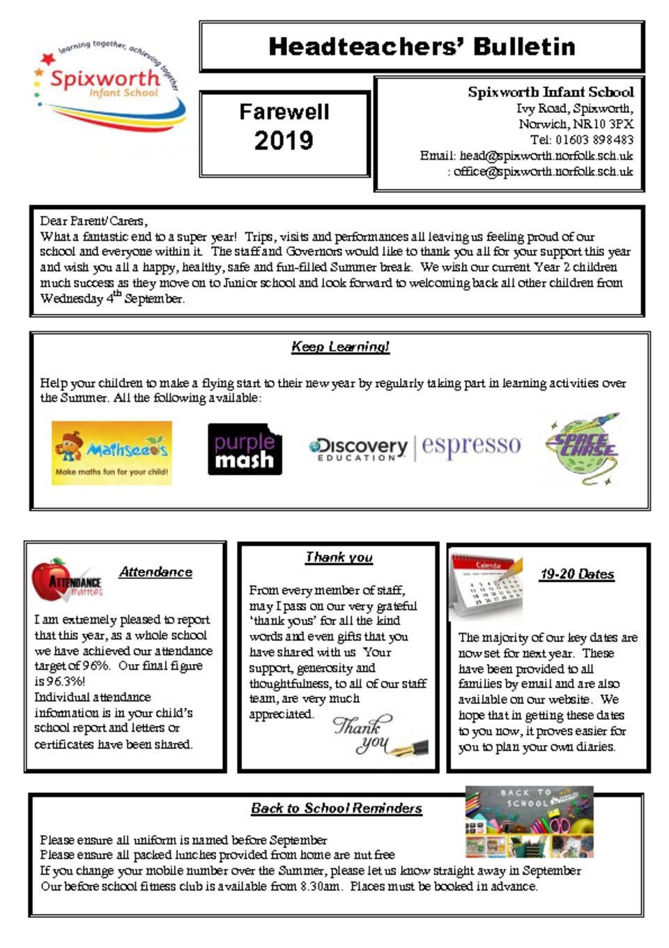 thumbnail of Final Newsletter July 2019