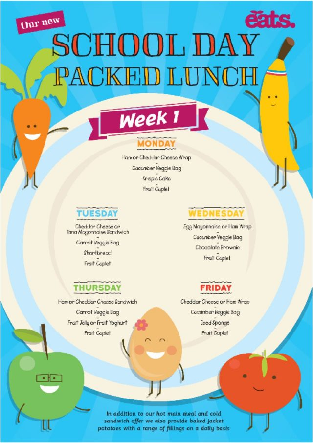 thumbnail of Spixworth Packed Lunch Menu