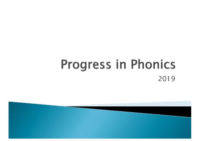 thumbnail of Progress in Phonics 2019